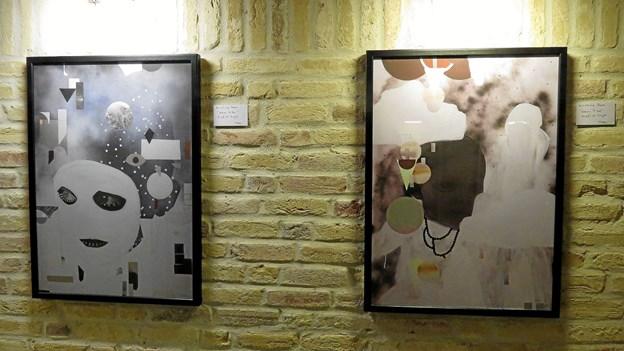Der er galleri med kunstudstilling i forbindelse med vinbaren. Foto: Kirsten Olsen