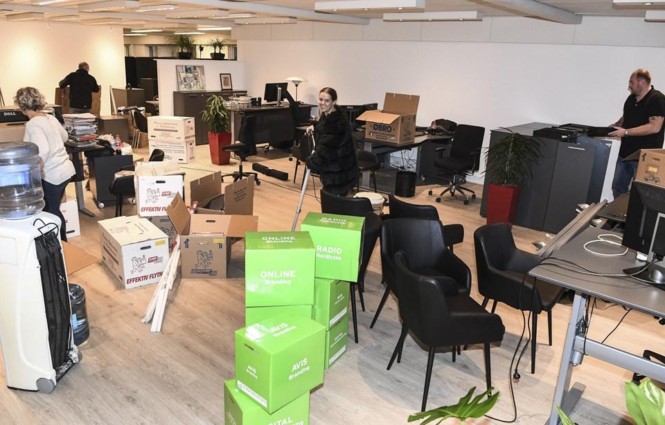 Fredag flyttede NORDJYSKE Medier i Hjørring fra Frederikshavnsvej til Sct. Olai Plads 6A.