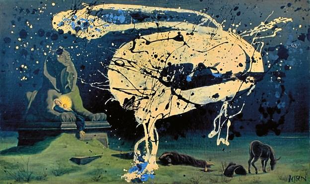 Fra i dag kan du se et helt nyt Asger Jorn-maleri på Kunsten. Foto: Kunsten