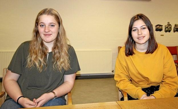 Anna Bastholm Mølgaard og Katia Linnea Vorbeck har netop været i Aarhus for at deltage i DM i Fagene. Foto: Jørgen Ingvardsen
