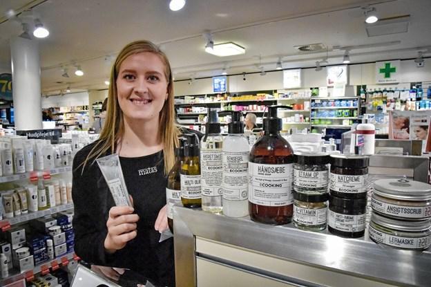 Julie Thinggaard Sørensen, Matas, glæder sig til at se rigtigt mange kunder i uge 10 - hvor det handler om et sundt dansk hudplejeprodukt Ecooking. Foto: Ole Iversen