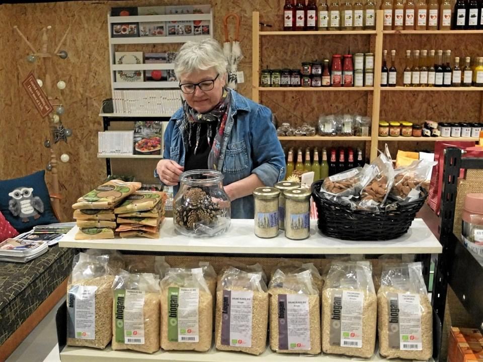 Margit Mølgaards domæne er butikken. Foto: Gunnar Onghamar