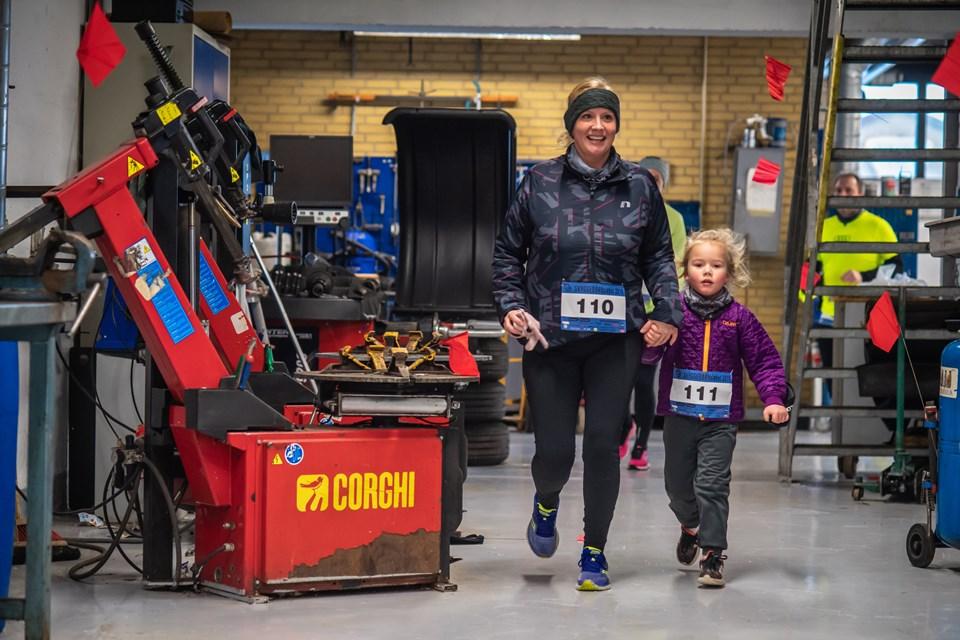 Løbet gik gennem værkstedet hos Bilhuset Hjørring. Foto: Martin Damgård