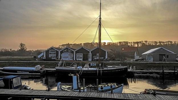 Kirstine, som den ser ud i dag foran Limfjordsmuseets bådebyggeri i Løgstør. Foto: Mogens Lynge
