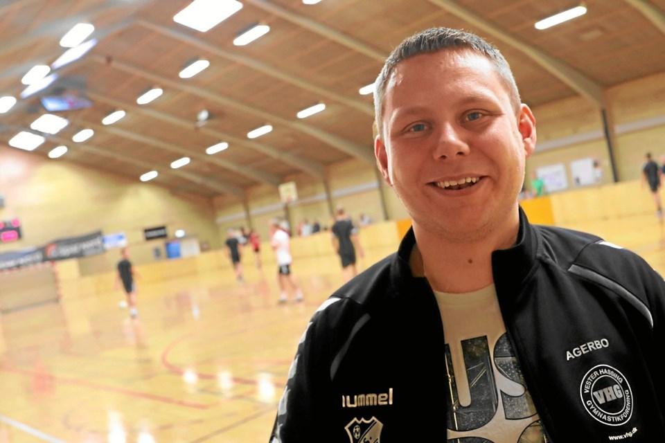 Formanden for VHG-fodbold, Marc Agerbo Jakobsen er godt tilfreds med arrangementet. Foto: Allan Mortensen