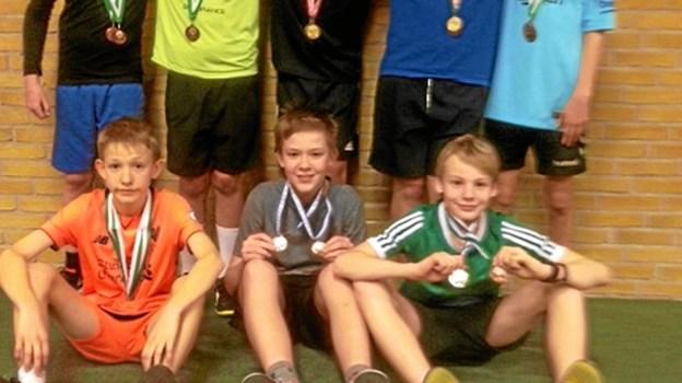 U15 - øverst fra venstre: Magne, Rumle, Mikkel, Malthe og Mads Emil.   Nederst fra venstre: Magnus, Sigurd og Tobias. Foto: Privat Privat
