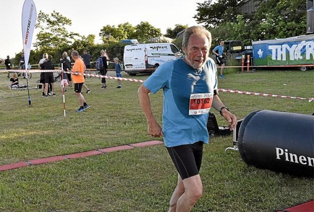 Leif Eskerod tilbage efter 10 km. løbetur på 58.48 og en placering som nr. 39. Foto: Ole Iversen
