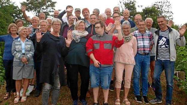 Her de, der var med til årets første revyaften..   Foto: Arne Larsen-Ledet