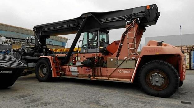 En truck, der løfter over 30 tons. Foto: Jens Brændgaard