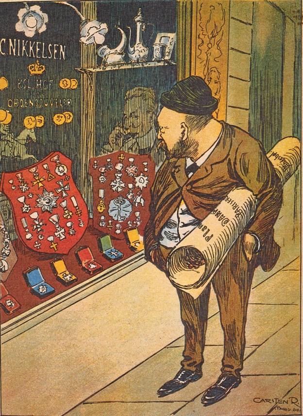 Efter sigende var Bindesbøll på mange måder en sær snegl, alle hans fremragende evner som designer ufortalt. Efter Verdensudstillingen i Paris i 1900 blev han forbigået ved medaljeuddelingen, hvorefter Carsten Ravn tegnede ham til Kinoptikon. LOKALHISTORISK ARKIV SKAGEN