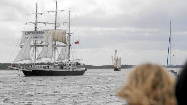 Tall Ships-deltagerne passerede lørdag forbi Hals. Foto: Allan Mortensen Allan Mortensen
