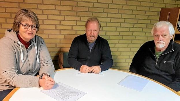 SGIF´s næstformand Anette Christensen, formand Ole Hansen og kasserer Søren Toft. Foto: Karl Erik Hansen