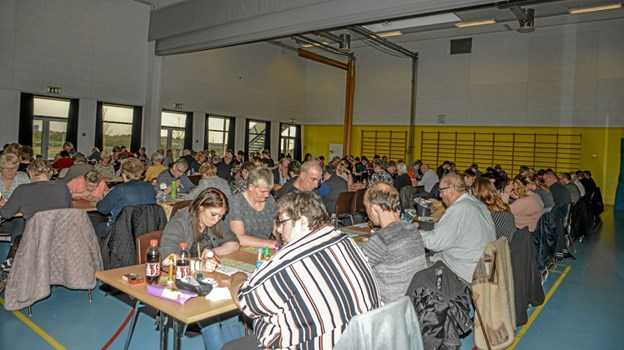 110 var mødt op til søndagens spil i Lanternen i Løgstør. Foto: Mogens Lynge
