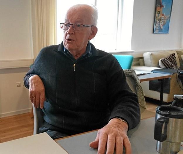 Kresten Bunk fra Øster Assels er en af de herrer, der i hver uge nyder samværet med andre mandfolk i Herreværelset i Nykøbing.