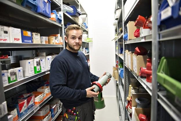 Nick Pedersen her i starten af sin delelærlingekarriere på frederikshavnervirksomhederne Mariendal, Soft Teknik og MAN,