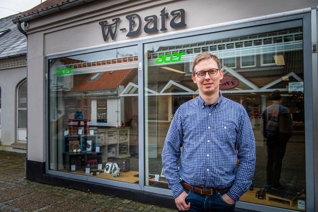 1. december 2012 købte han den tidl. radio- og tv-forretning i gågaden. Foto: Diana Holm @ Diana Holm