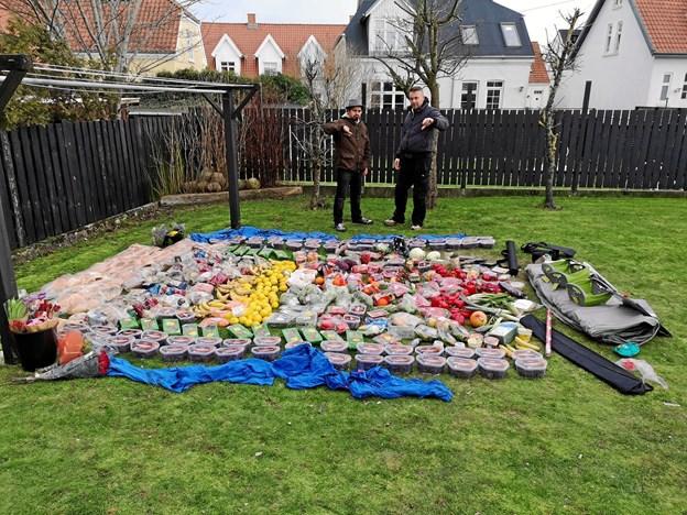 I weekenden gav Marc Real fra Hjørring den som skralder i tre timer i selskab med kok Fabian Vennekilde. Foto: Privatfoto.