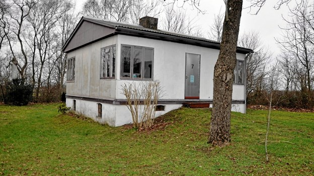 Mellem Håndværkervej og hovedvejen, Aalborgvej, ligger Laiers privatbolig, som er fyldt med kunstværker fra hans hånd. Foto: Ole Torp Ole Torp