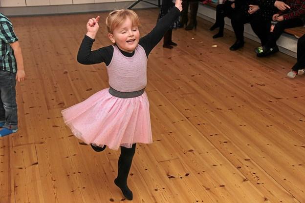 Der var også en lille ballerina. Foto: Hans B. Henriksen Hans B. Henriksen
