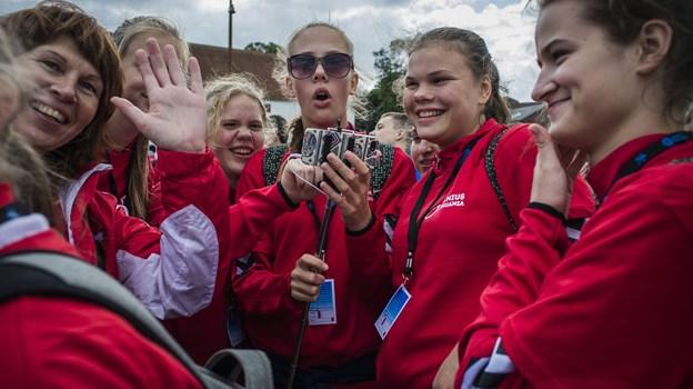 1100 atleter indtager byens gader, når ungdomslegene afholdes i Aalborg for 12. gang. Arkivfoto: Martin Damgård