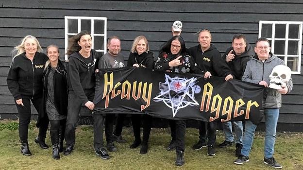 Hele holdet bag Heavy Agger er klar til at fyre den af til Heavy Agger i 10 års jubilæumsudgaven. Privatfoto