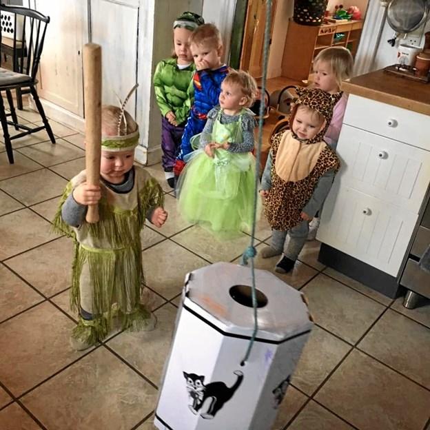 Børnene var klædt festligt ud. Privatfoto