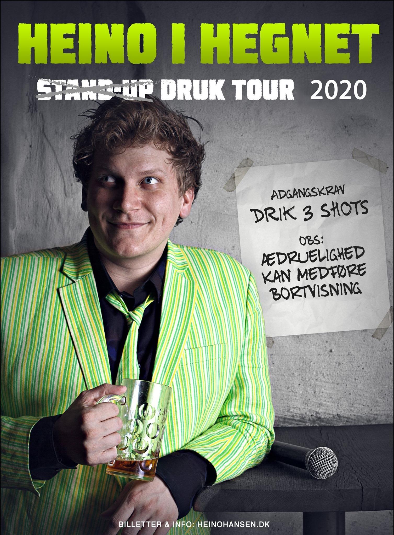 Det bliver festligt på Skråen, når komikeren Heino Hansen kommer forbi med sit show 'Heino i Hegnet'. PR Foto