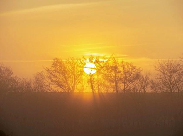 Solopgang lørdag morgen. Foto: Nanna Højbjerg