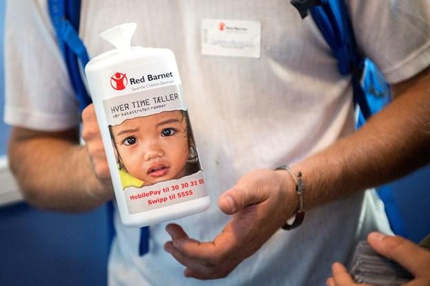 Red Barnet samler ind 2. september. Arkivfoto: Daniel Bygballe