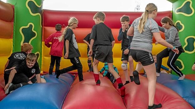 Hoppeborge er populære til byfester og børnene elsker det. Foto: Mogens Lynge Mogens Lynge