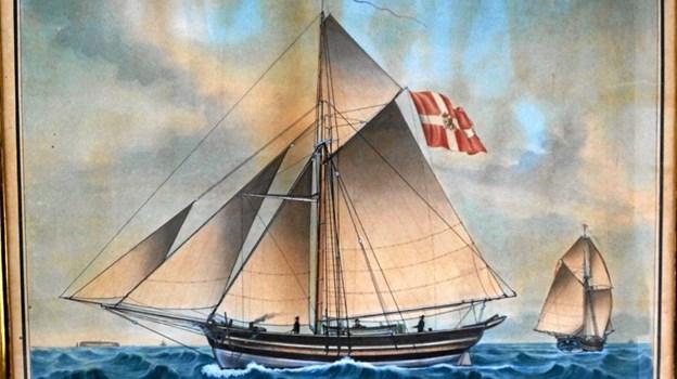 Handelen på Norge foregik på små både med en besætning på normalt 3 mand. (Lokalhistorisk Arkiv Løkken) Privatfoto xx