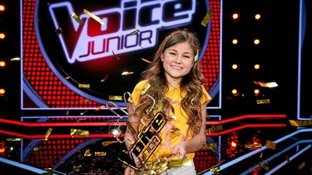 Camille - årets Voice Junior. Foto: Krestine Havemann.