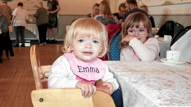 Emma på 1   år var en af de yngste deltagere pinsemorgen i Tolne Skovpavillion. Foto: Peter Jørgensen Peter Jørgensen