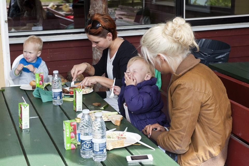 """Der var masser af oplevelser for store og små på turen til Farm Fun. Det er første gang, at sundhedsplejen i Frederikshavn har lavet en tur """"ud af huset"""" for brugerne af Babycaféen.Foto: Kurt Bering"""