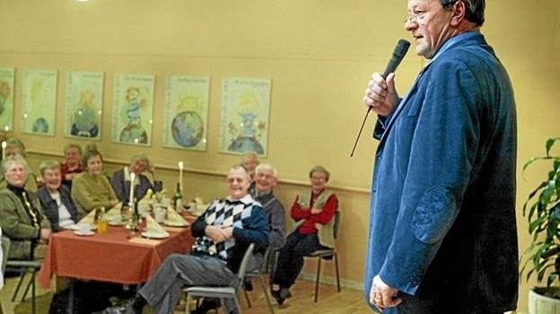 Ingen er bedre til at fortælle om de tidligere beboere i Albæk Bakker end Claus Søbye. Foto: Arkiv foto