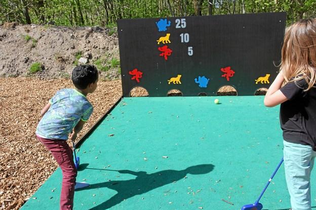 Hele ideen om at lave en legeplads i Hjørring Golfklub, rettet mod de yngre årgange i Hjørring Kommune, opstod i løbet af 2017 og helt naturligt var tanken, at legepladsen skulle være med golfrelaterede elementer. Foto: Hjørring Golfklub