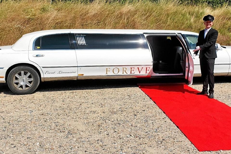 I weekenden kan du få en limousinetur i Støvring... Foto: Privat
