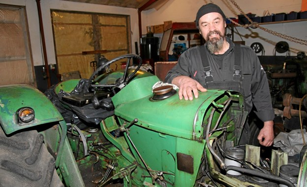 Leon Sørensen er også en del af Han Herred Traktorlaug. Foto: Flemming Dahl Jensen Flemming Dahl Jensen