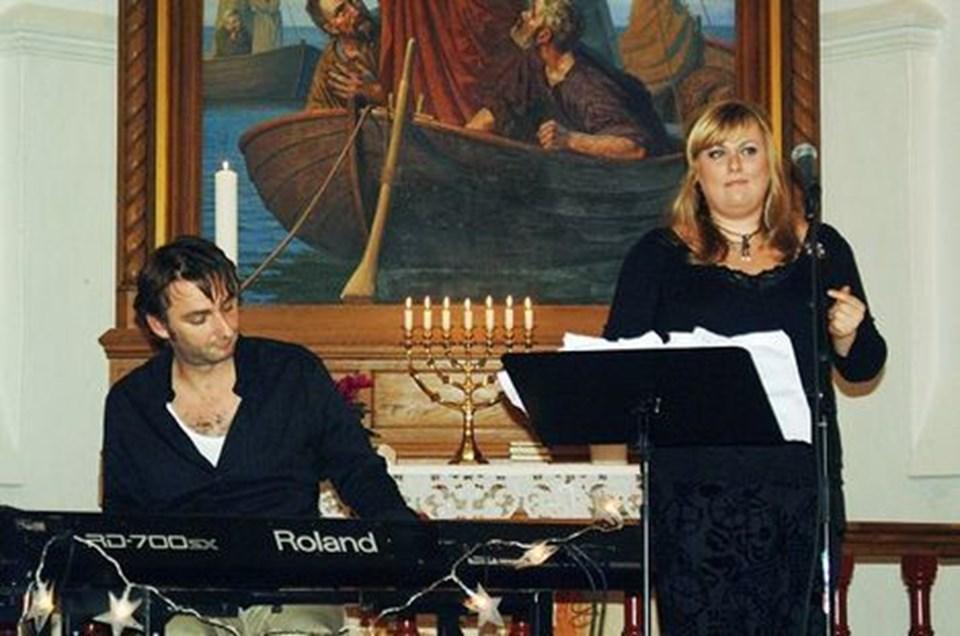 Marie Carmen Koppel blev akkompagneret af pianisten Sten Rasmussen. foto: m-line