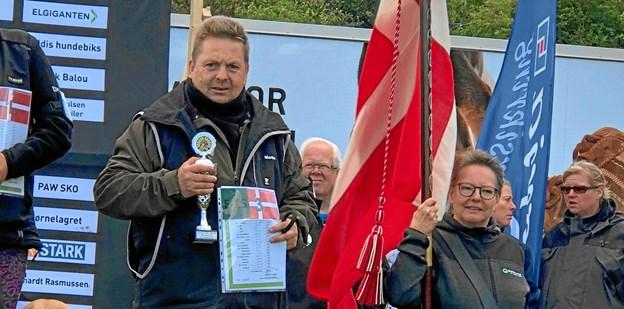 Martin Nielsen med Basse 3. plads i Eliteklassen. FOTO: Sanne Iversen
