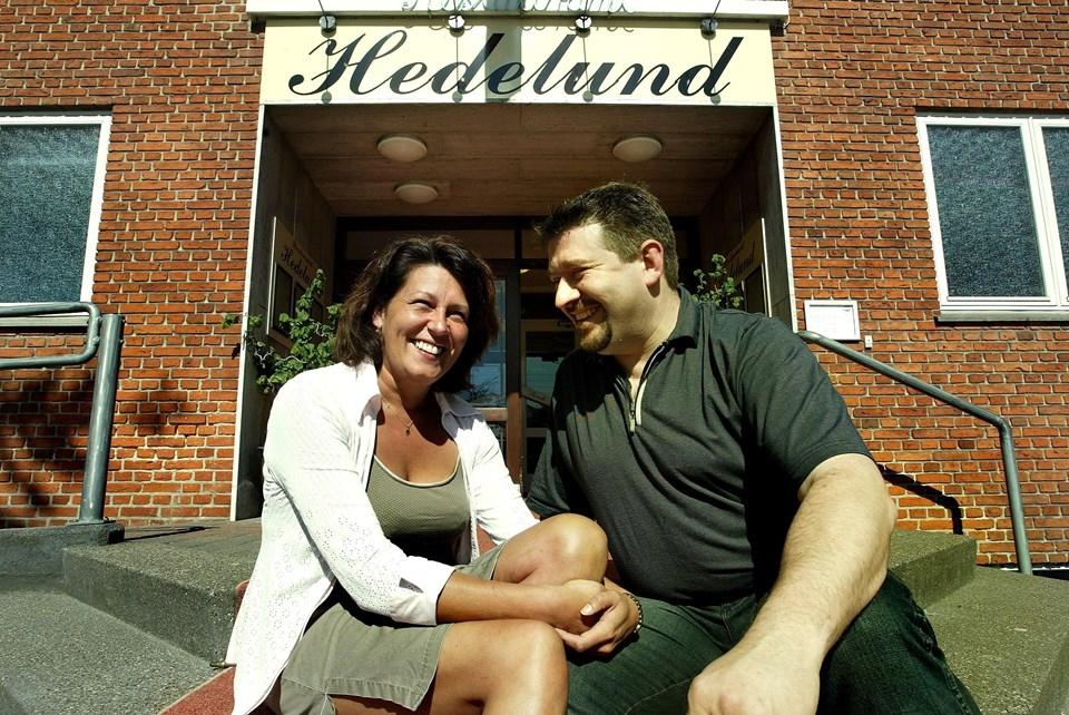 Mette og Thorbjørn Blicher har igennem 19 år været forpagtere af Restaurant Hedelund. Her ses parret i 2004. Foto: Hans Ravn