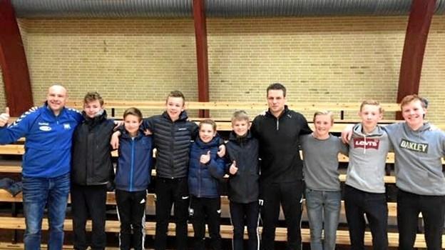 TVHH's U14-drenge og et stor forbillede: Michael V. Knudsen
