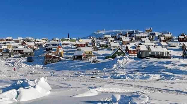 700 km nord for polarcirklen ligger Upernavik på en ø, hvis samlede areal kun er 3km2. Der bor ca. 1.050 mennesker i byen. Privatfoto