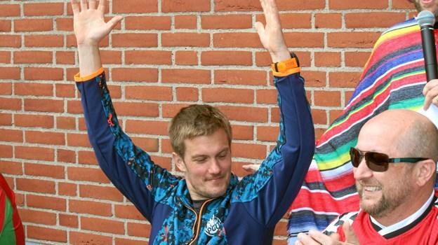 Henrik Dutten Nielsen fra PGU kunne række hænderne i vejret som vinder af smags konkurrencen. Foto: Flemming Dahl Jensen Flemming Dahl Jensen