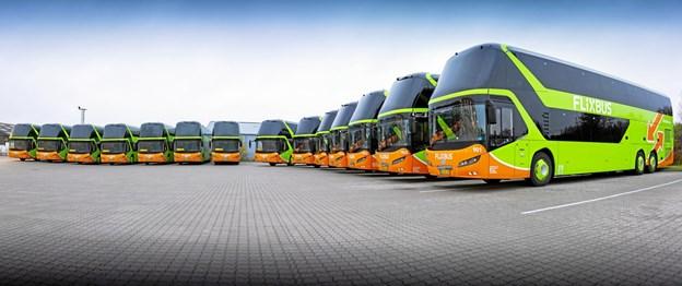 FlixBus, der er et europæisk selskab, rykkede ind i Danmark i foråret 2017. PR-foto