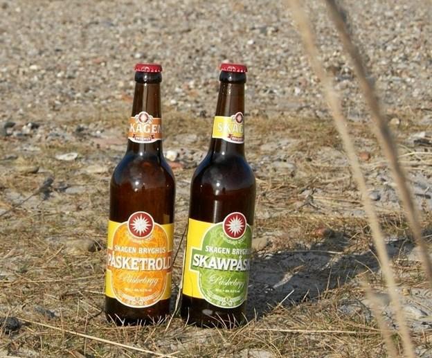 Påsketrold og Skawpåske er blandt de øl, man kan nyde på bryghuset og købe i en lang række butikker.