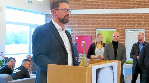 Vittrup fri Fagskoles forstander Casper Nellemann ved skolens indvielse tidligere på året.  Arkivfoto