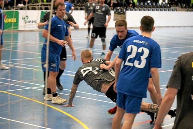 Aalborg KFUM holdt Team Jammerbugt i et jerngreb. Foto: Flemming Dahl Jensen Flemming Dahl Jensen