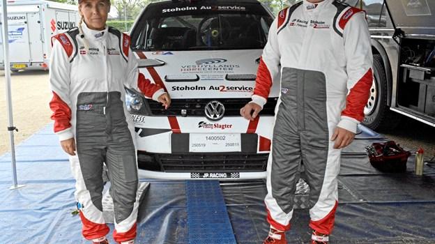 Jan Petersen og Jeanette Kvick var tæt på at vinde generalsejren i Yokohama Vest rally sprintet på Nysum Banen.