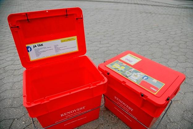 Vesthimmerlands Forsyning sætter nu i en ny kampagne maksimalt fokus på den røde miljøkasse. Privatfoto